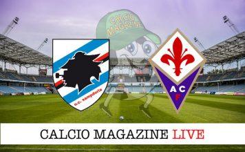 Sampdoria Fiorentina cronaca diretta risultato live