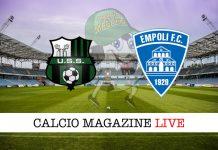 Sassuolo Empoli cronaca diretta risultato live