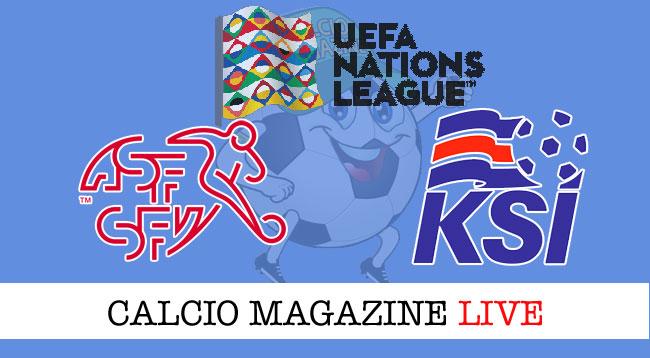 Svizzera Islanda cronaca diretta risultato live
