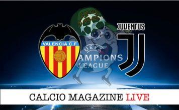Valencia Juventus cronaca diretta risultato live
