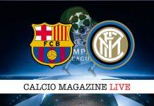 Barcellona Inter cronaca diretta risultato tempo reale