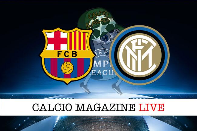 Barcellona Inter cronaca diretta live risultato tempo reale
