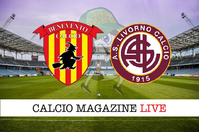 Benevento Livorno cronaca diretta risultato tempo reale