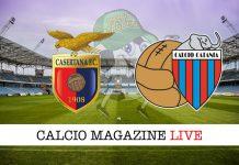 Casertana Catania live cronaca risultato tempo reale