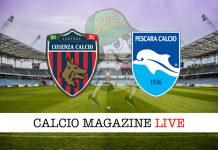 Cosenza Pescara cronaca diretta risultato tempo reale