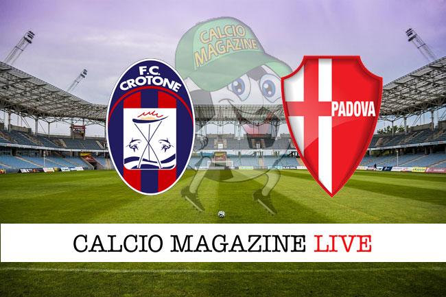 Crotone Padova live cronaca risultato tempo reale