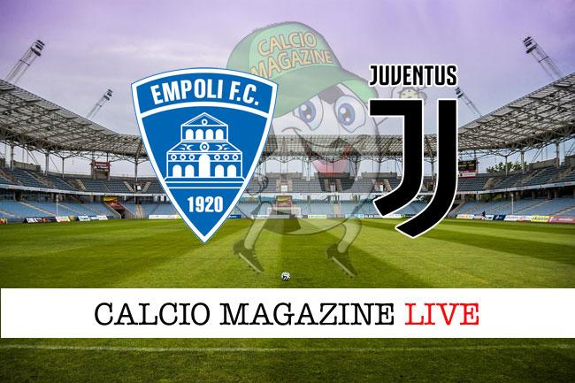 Empoli Juventus cronaca diretta risultato tempo reale