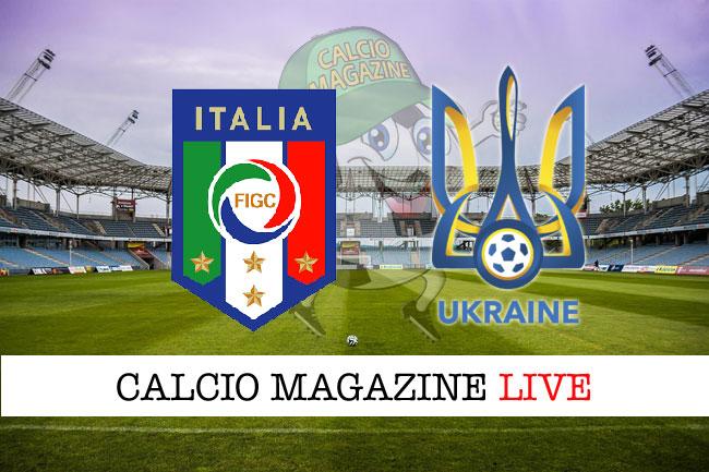 Italia Ucraina cronaca diretta risultato tempo reale
