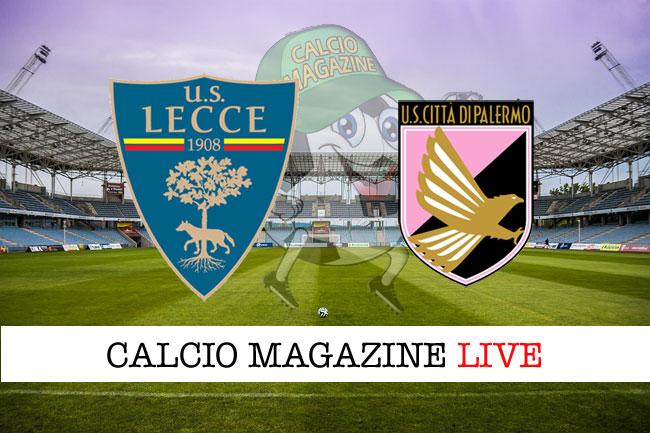 Lecce Palermo cronaca diretta risultato tempo reale