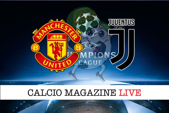 Manchester United Juventus cronaca diretta risultato tempo reale