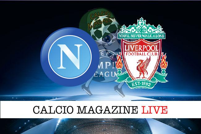 Napoli Liverpool cronaca diretta live risultato in tempo reale