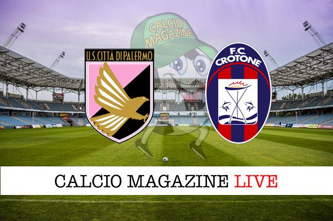 Palermo Crotone live cronaca risultato in tempo reale