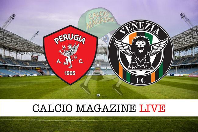 Perugia Venezia live cronaca risultato in tempo reale