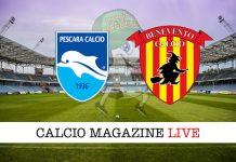 Pescara Benevento live cronaca risultato in tempo reale