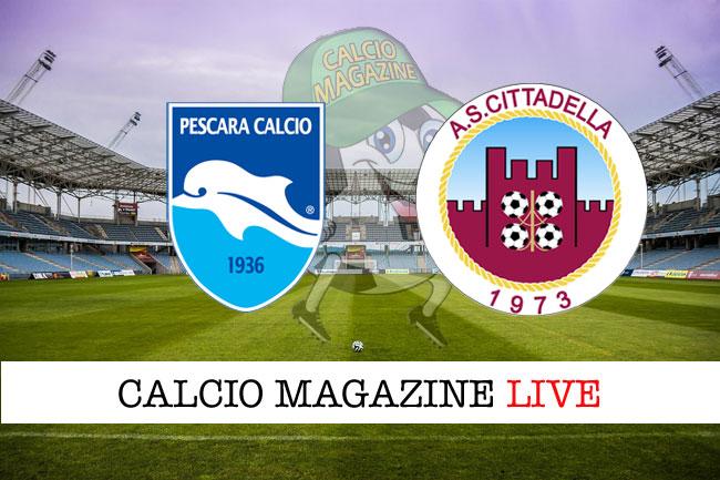 Pescara Cittadella cronaca diretta risultato tempo reale