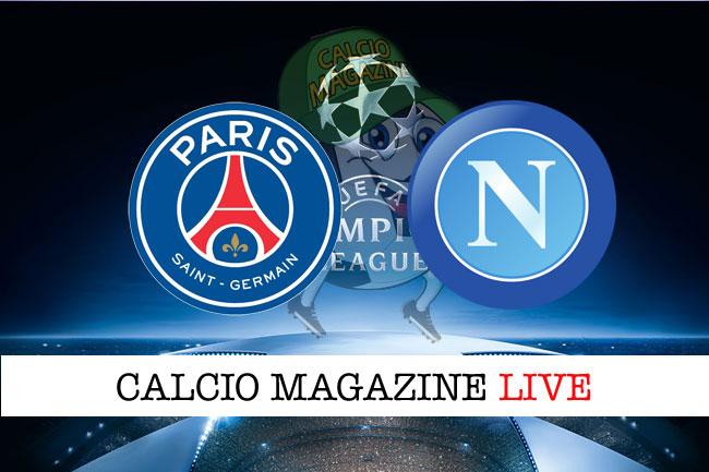 PSG Napoli cronaca diretta risultato tempo reale