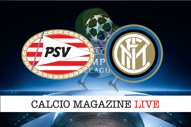PSV Eindhoven Inter live cronaca risultato tempo reale