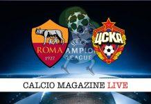 Roma Cska Mosca cronaca diretta risultato tempo reale