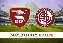 Salernitana Livorno cronaca diretta risultato in tempo reale