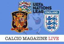 Spagna Inghilterra live cronaca risultati tempo reale