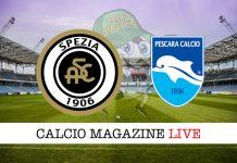 Spezia Pescara cronaca diretta risultato tempo reale