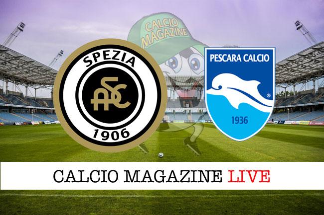 Spezia Pescara cronaca diretta live risultato tempo reale