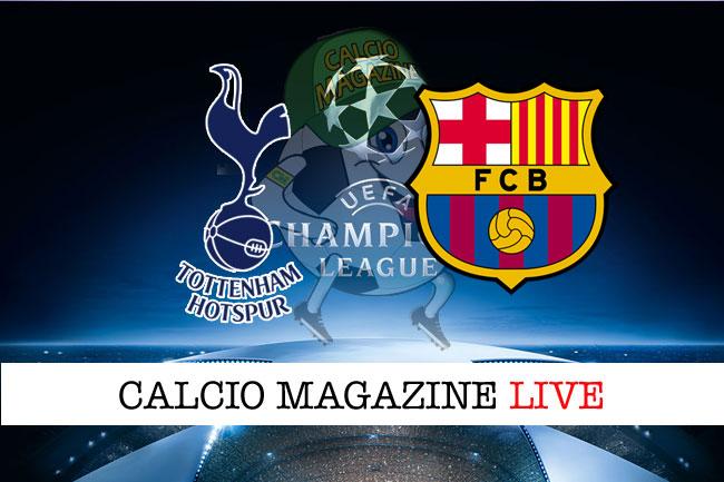 Tottenham Barcellona live cronaca risultato in tempo reale