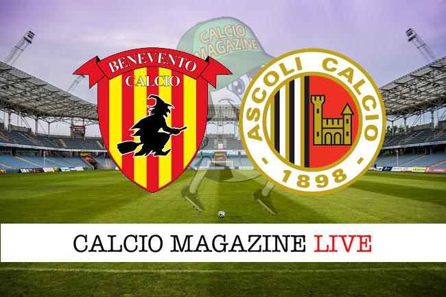 Benevento Ascoli cronaca diretta risultato tempo reale