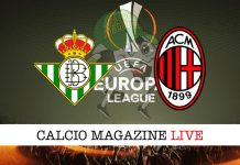 Betis Siviglia Milan cronaca diretta live risultato in tempo reale