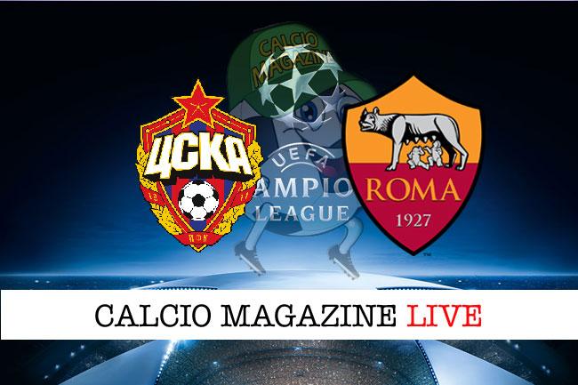 Cska Mosca Roma cronaca diretta live risultato tempo reale
