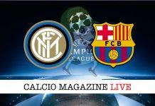 Inter Barcellona cronaca diretta live risultato tempo reale