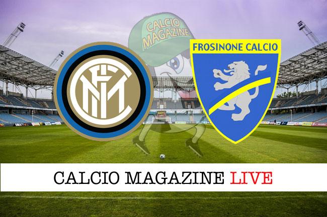 Inter Frosinone cronaca diretta live risultato tempo reale
