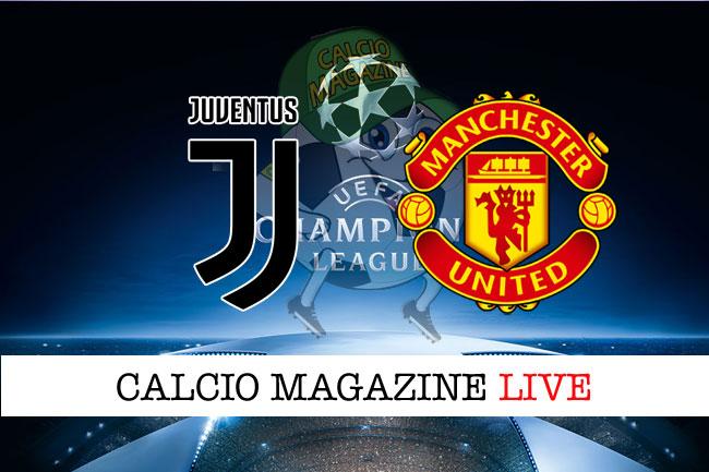 Juventus Manchester United cronaca diretta live risultato tempo reale
