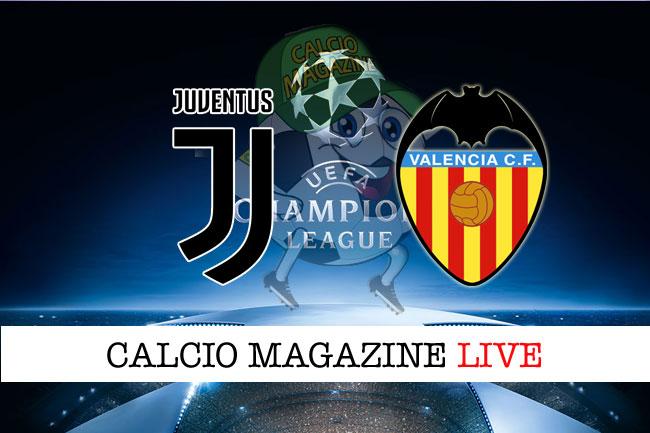 Juventus Valencia cronaca diretta live risultato tempo reale