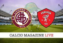 Livorno Perugia cronaca diretta risultato tempo reale