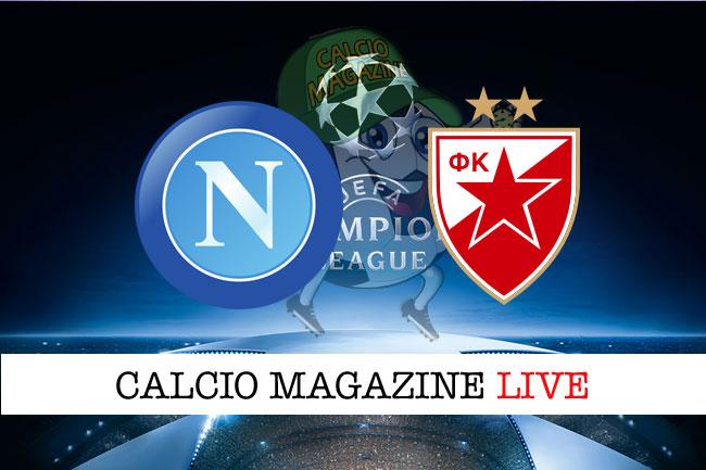 Napoli Stella Rossa cronaca diretta live risultato in tempo reale