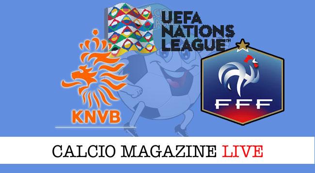 Olanda Francia cronaca diretta live risultato in tempo reale