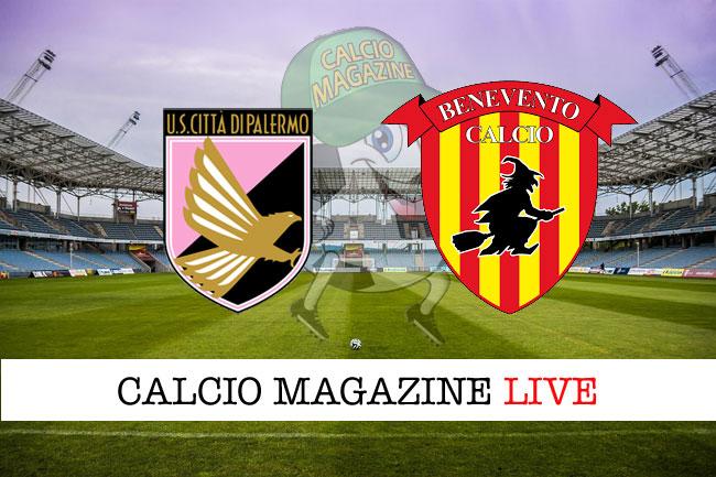 Palermo Benevento cronaca diretta live risultato in tempo reale