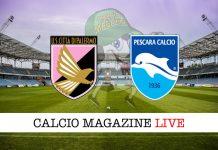 Palermo Pescara cronaca diretta live risultato tempo reale
