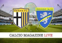 Parma Frosinone cronaca diretta risultato tempo reale