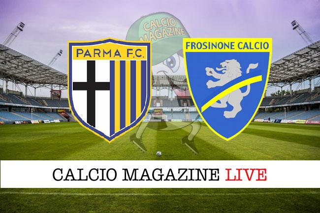 Parma Frosinone cronaca diretta live risultato tempo reale