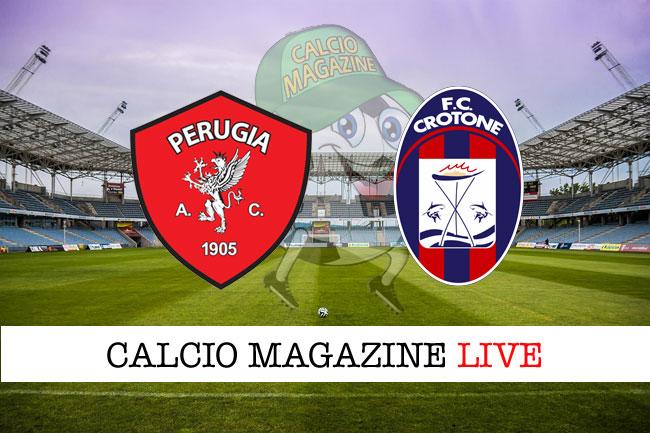 Perugia Crotone cronaca diretta live risultato tempo reale