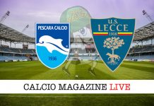 Pescara Lecce cronaca diretta live partita tempo reale