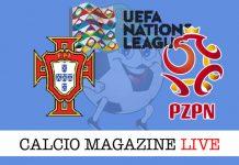 Portogallo Polonia cronaca diretta live risultato tempo reale