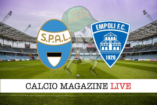 Spal Empoli cronaca diretta live risultato tempo reale