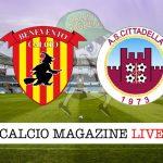 Benevento Cittadella cronaca diretta live risultato tempo reale