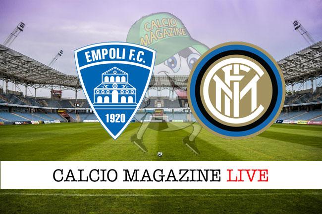 Empoli - Inter, le formazioni ufficiali