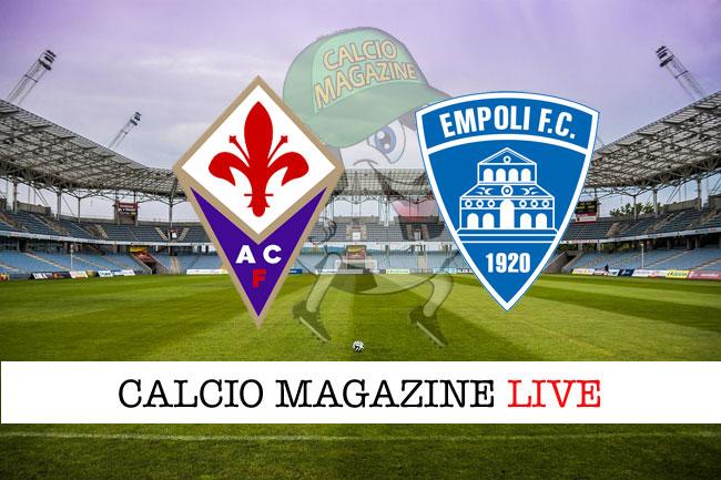 Fiorentina Empoli cronaca diretta risultato tempo reale
