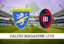 Frosinone Cagliari cronaca diretta live risultato in tempo reale