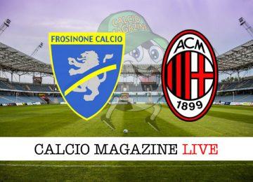 Frosinone Milan cronaca diretta risultato in tempo reale